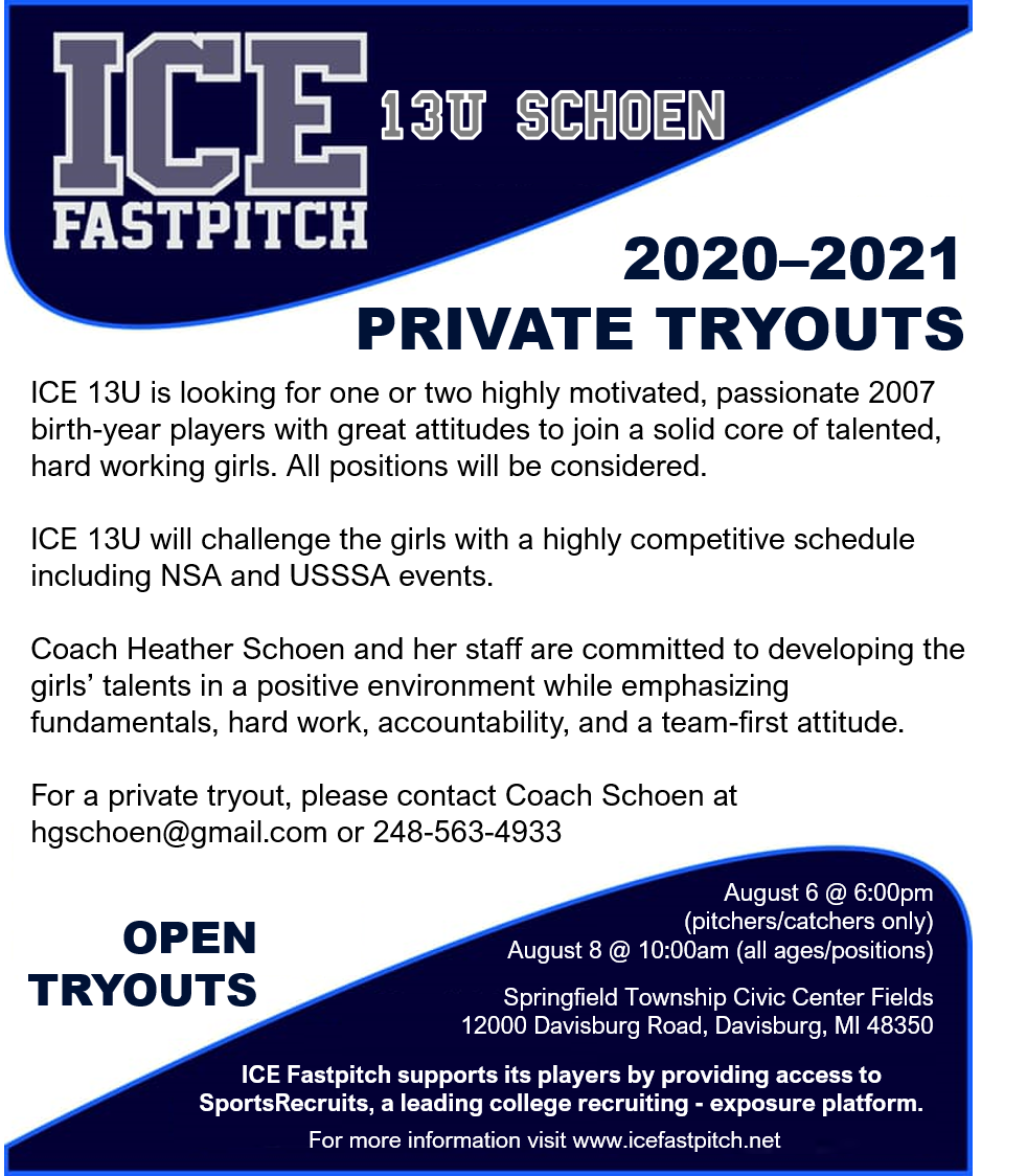 Private Tryout Flyer